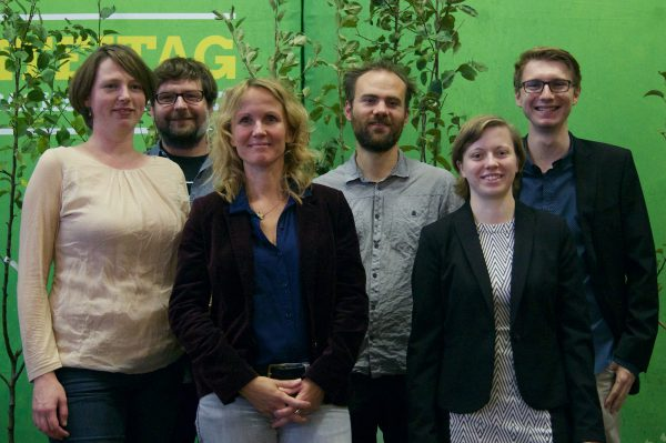 v. l. n. r.: Grit Michelmann, Mirko Wolff, Steffi Lemke MdB, Florian Betz, Miriam Matz, Max Schirmer.