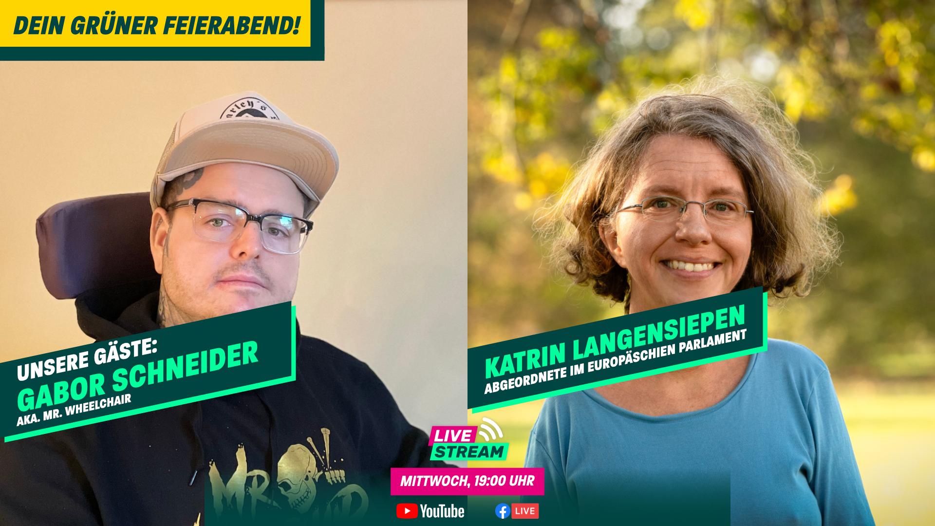 Dein Grüner Feierabend am 21.04. – mit Katrin Langensiepen und Gabor Schneider