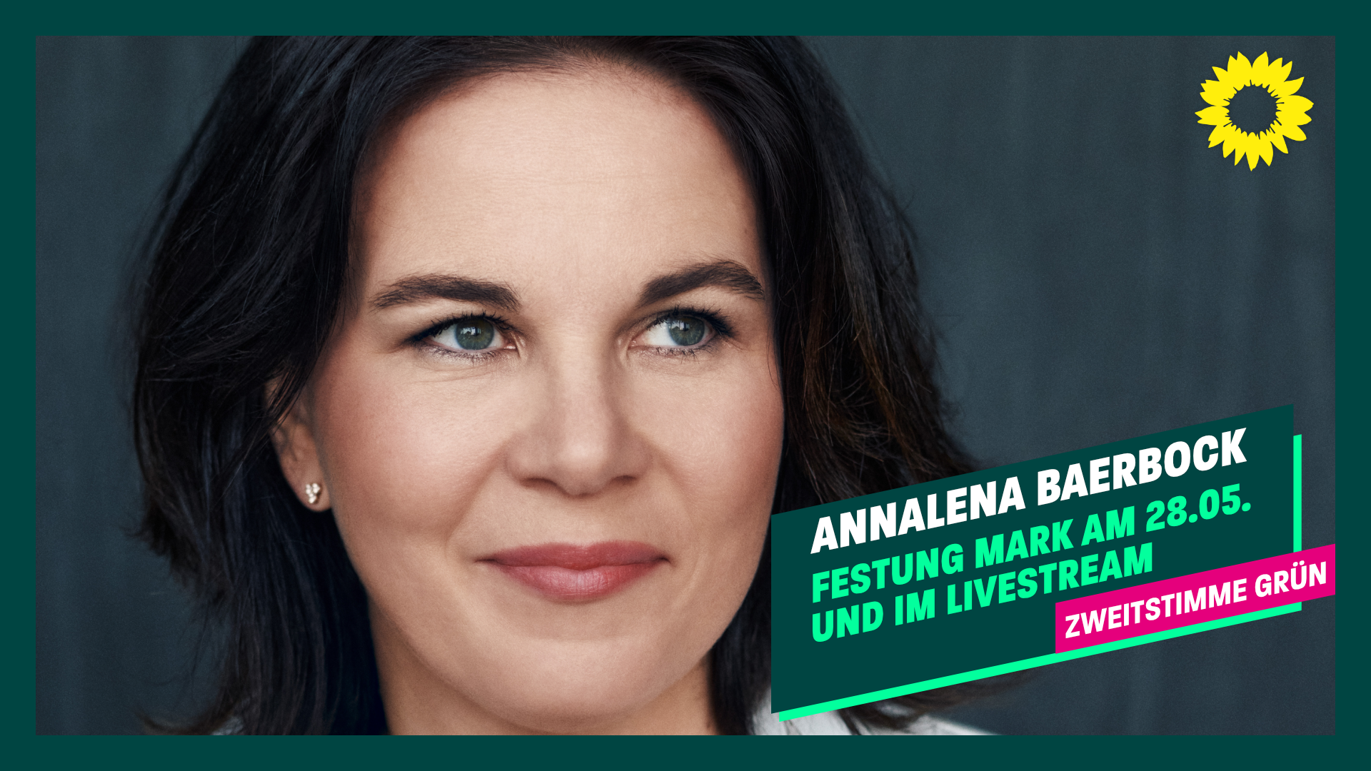 Annalena Baerbock – Wahlkampfkundgebung in Magdeburg – 28. Mai, 17 Uhr, Festung Mark
