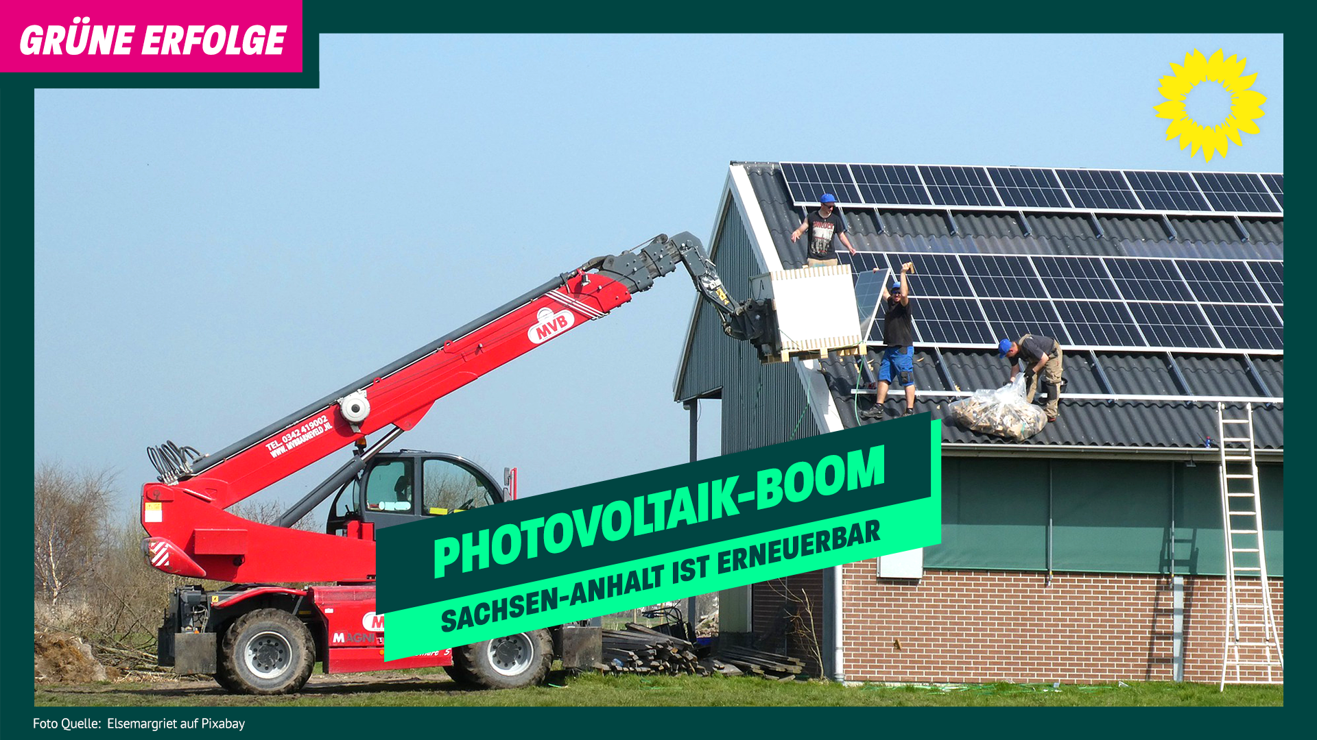 Grüne für Solarenergie