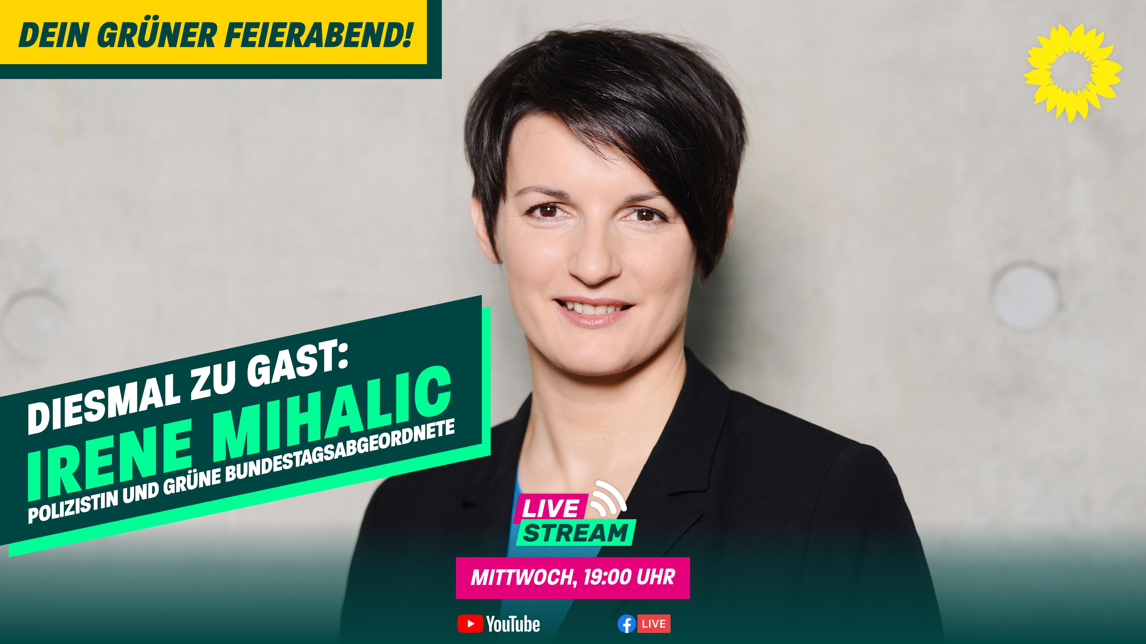 Dein grüner Feierabend am 19.05. – mit Irene Mihalic