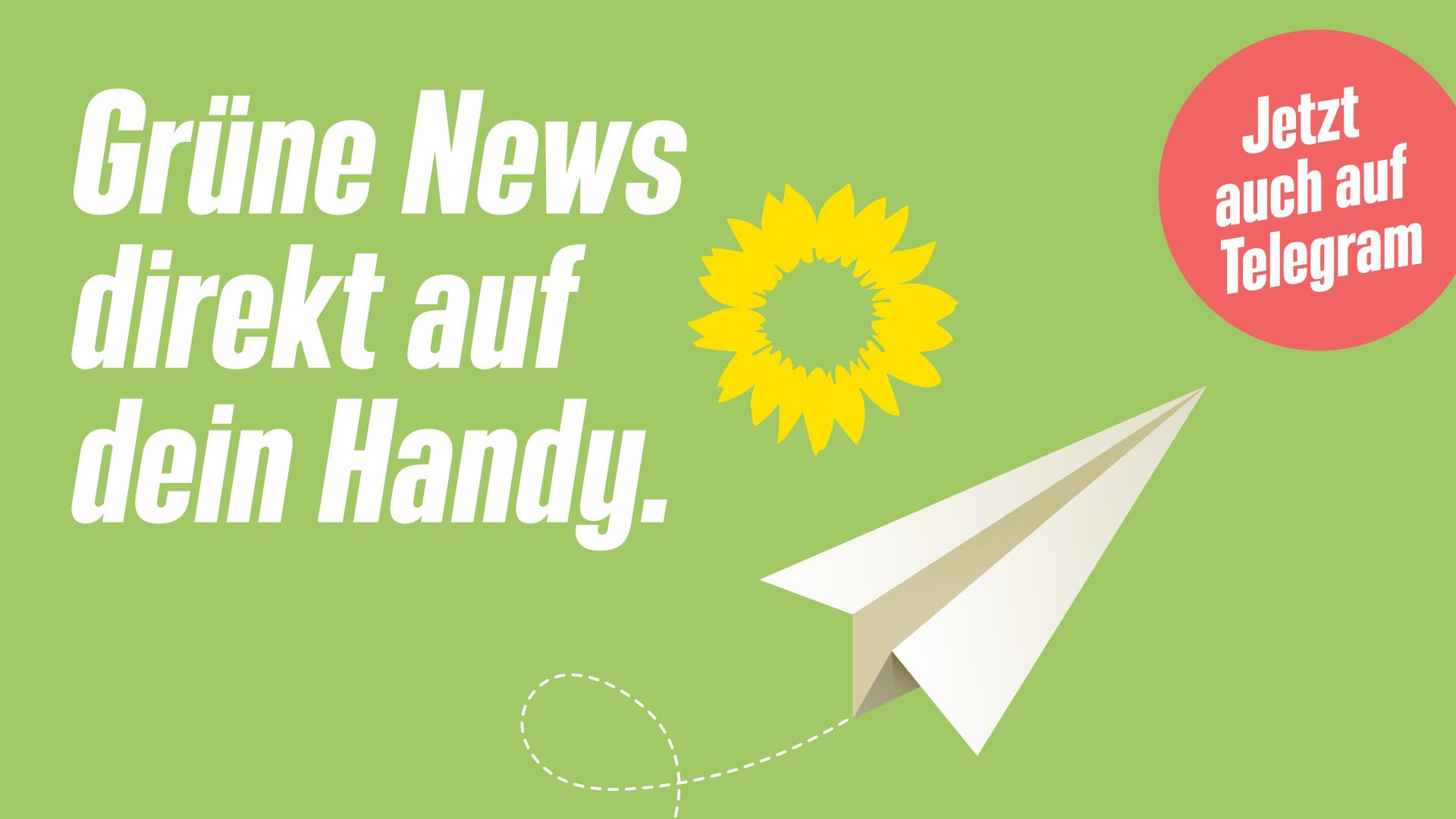 Grüne News jetzt auch via Telegram