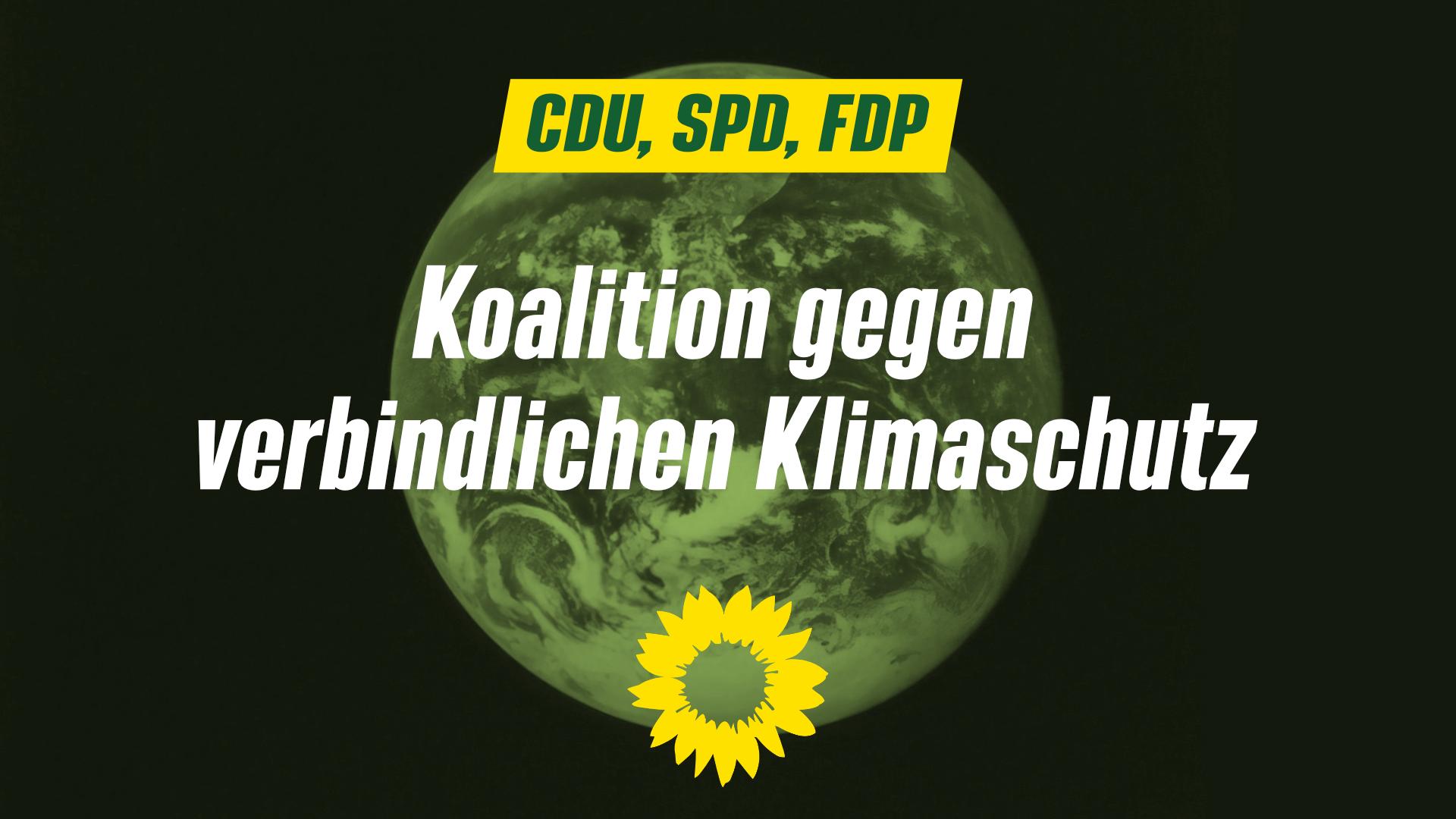 Eine Koalitionsentscheidung gegen verbindlichen Klimaschutz