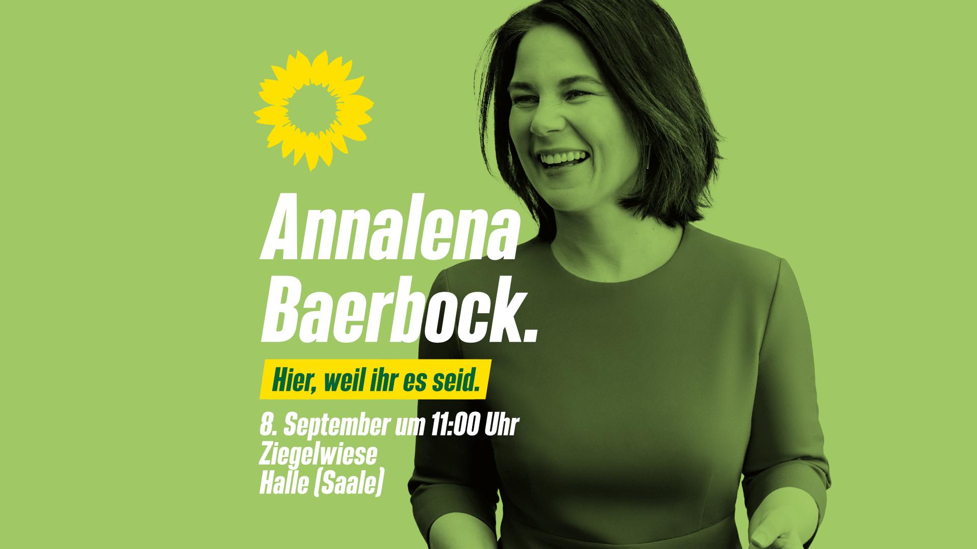 Annalena Baerbock in Halle