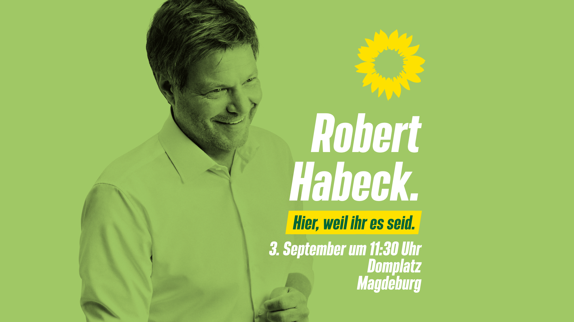 Robert Habeck in Magdeburg